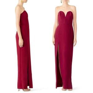 Amanda Uprichard Fuchsia Sweetheart Gown M